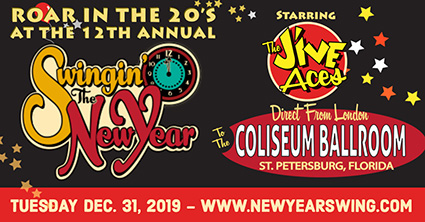 Swingin' the New Year, New Year's Eve Celebration at Spectacular Coliseum Ballroom, St. Petersburg, Florida