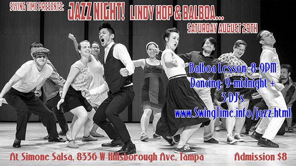 Tampa Bay's Swing Dance News for August 18th 2015